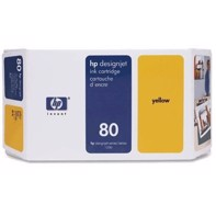 HP 80 - 350 ml Yellow Tintenpatrone