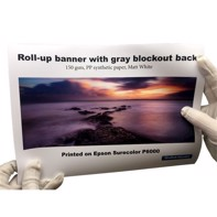 "Color Europe Roll-up banner med Lichtblöcke 150 gramm - 42"" x 30 meter"